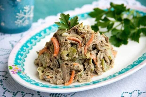 Печёночный салат-закуска