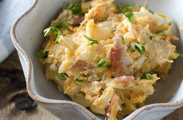 Запеканка из овощей: кладем слоями грибы, репу и картошку
