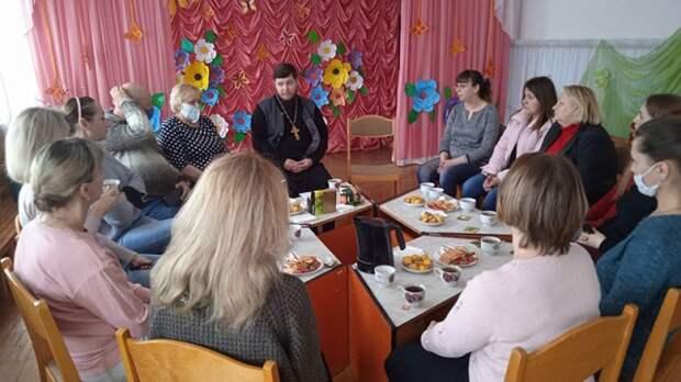 Состоялась встреча священника с родителями воспитанников детского сада.