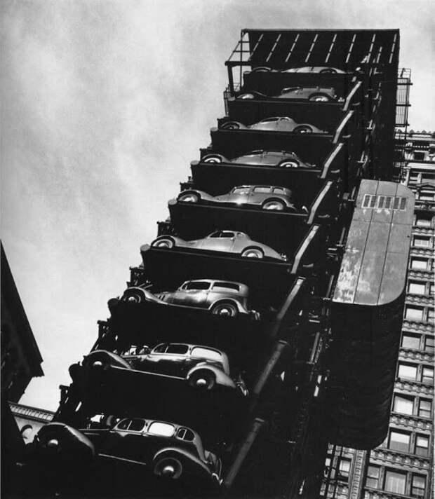 Парковка в Чикаго, 1936 авто, автомобили, архив, из прошлого, машины, парковка, прошлое, ретро