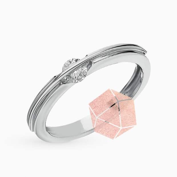 Кольцо «Эридан», белое золото, бриллиант