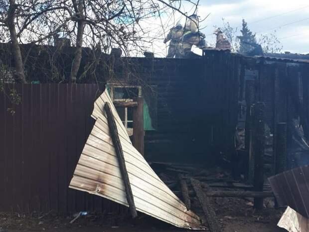 Женщина пострадала при пожаре в жилом доме  в пгт Кокуй Сретенского района
