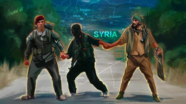 Курдские банды нужны США для поддержания напряженной обстановки в Сирии