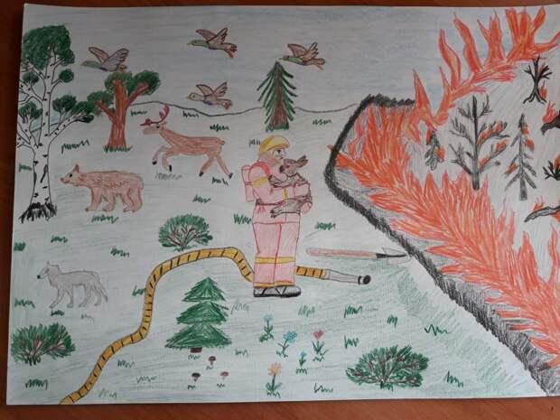 В Хорошево-Мневниках подведены итоги конкурса детского рисунка «Защитим природу от пожаров»