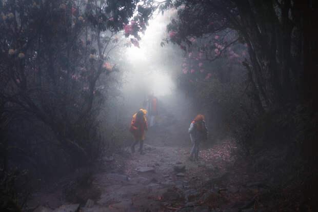 А на тропах встречаются те, для кого этот путь священный.