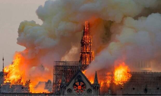 Пожар Собора Парижской Богоматери