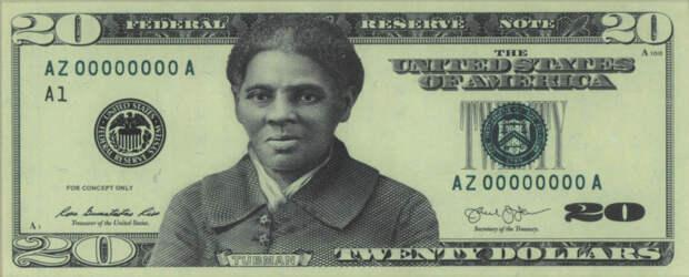 На банкноте в 20 долларов вместо президента Джексона появится чернокожая Гарриет Табмен