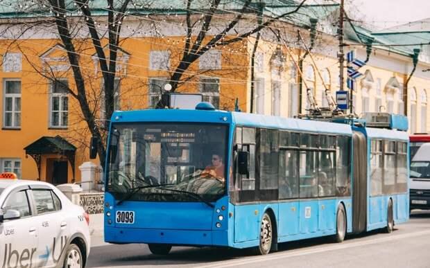 В Рязани на месяц остановят работу четырёх троллейбусов
