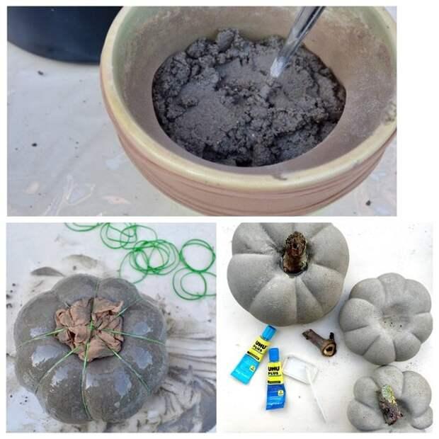 Мастерица заливает бетонный раствор в капроновые колготки и на следующий день получает восхитительную вещь