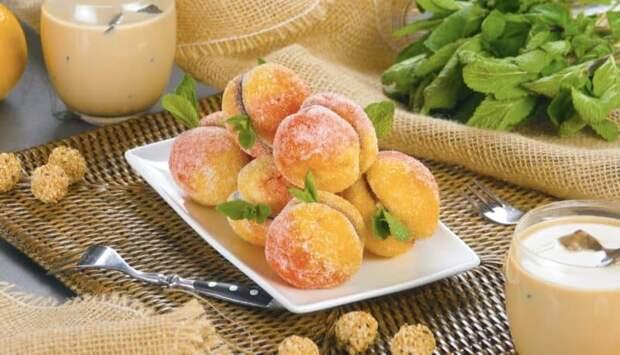 Домашнее печенье Персики. Простой и очень красивый десерт 2