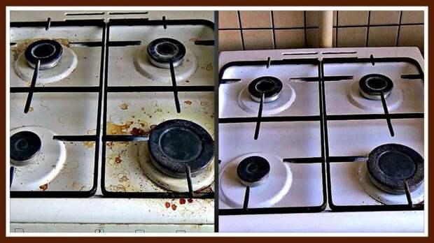 Как легко отмыть газовую плиту: народные средства и готовые препараты, советы