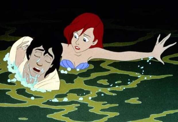Кадр из мультфильма «Русалочка», 1989 год