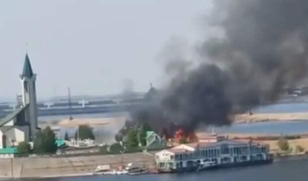 ВЧелнах наУраза-байрам возле мечети произошел пожар