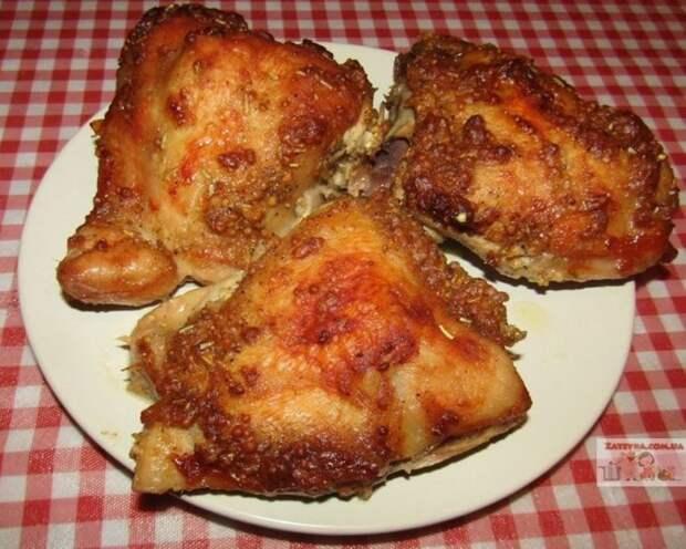 Курица, запеченная в горчичном маринаде Рецепты курицы, Видео рецепт, Кулинария, Видео, Длиннопост, Маринад, Курица