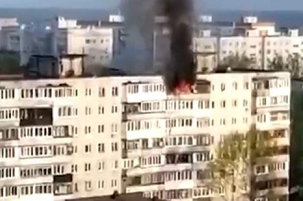 Спасаясь от пожара, две москвички спрыгнули с 9 этажа и остались живы