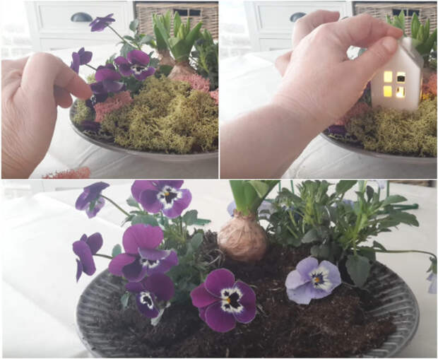 Чудесная и очень необычная идея применения живых цветов