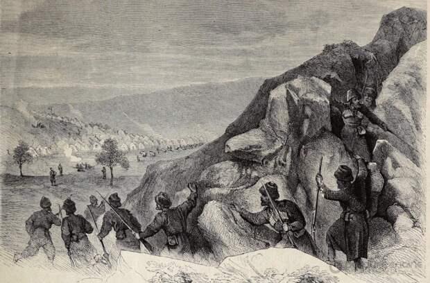 Рукопашный бой в тактике боя черкесов