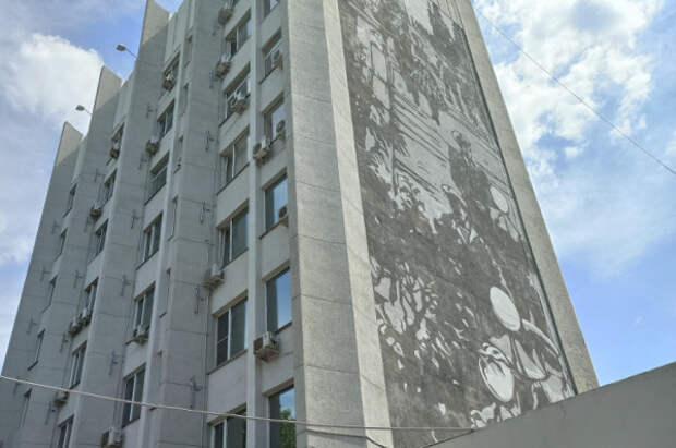 Московские художники нарисовали картину на здании правительства Севастополя