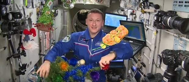 Елка и икра на орбите: космонавты МКС рассказали, как встретят праздник