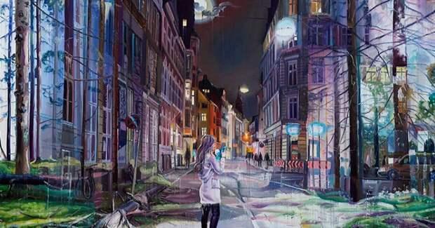 Сны, реальность, запустение и урбанистика в фантастических картинах художника Джейкоба Брострупа