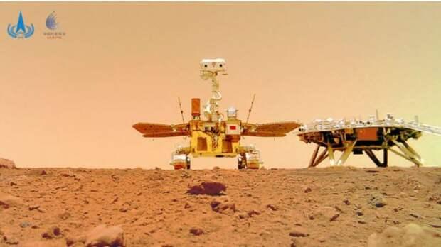 Первый китайский марсоход «Чжужун» прислал селфи сМарса