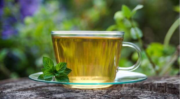 чай с мятой перечной