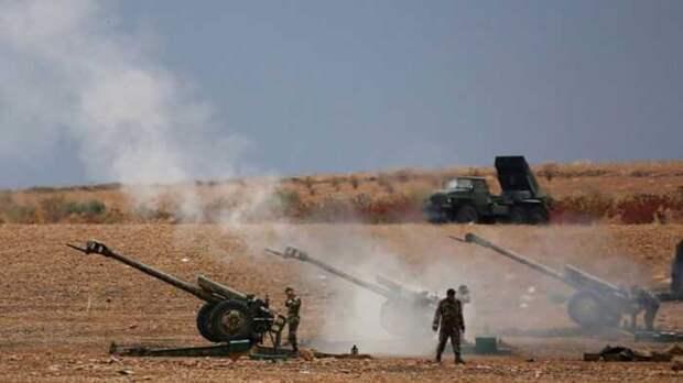 Турецкий беспилотник нанес удар ракетами по позициям сирийской армии