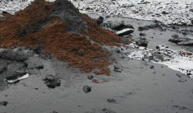 Трубопровод прорвало нанефтяном месторождении вЯНАО