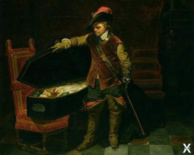 Кромвель у тела казнённого короля Кар...