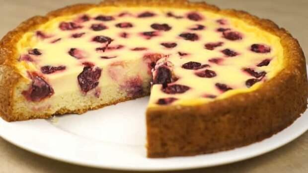 Пирог с черешней и нежной заливкой. Идеальное лакомство с летними ягодами для чаепития 2