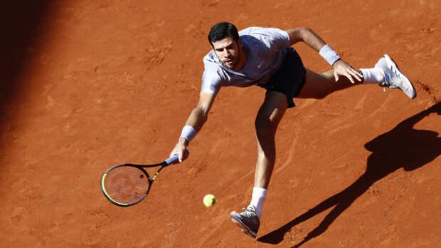 Хачанов проиграл Нисикори в первом круге турнира АТР в Мадриде