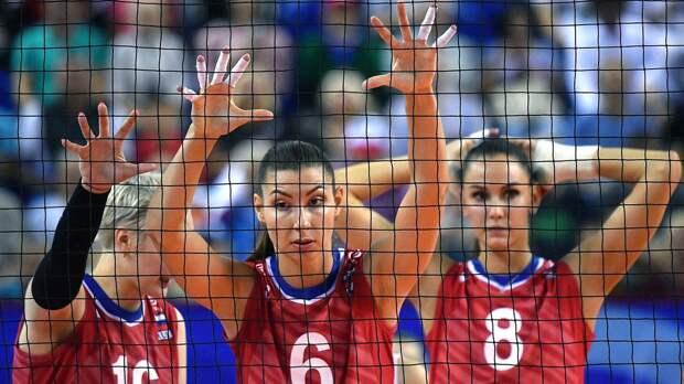 Российские волейболистки потерпели первое поражение в Лиге наций