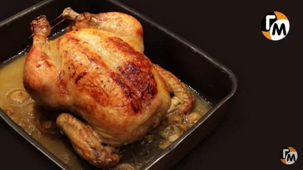 Фото к рецепту: Запечённая курица в духовке от джулии чайлд.