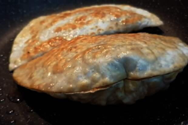 Ленивые чебуреки - быстрый рецепт: фото шаг 4