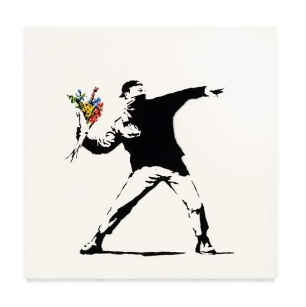 Картину Бэнкси «Любовь в воздухе» ушла с молотка за почти 13 млн долларов  – в три раза дороже начальной цены