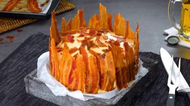 Несладкий торт с беконом. Превосходное угощение для гурманов 6