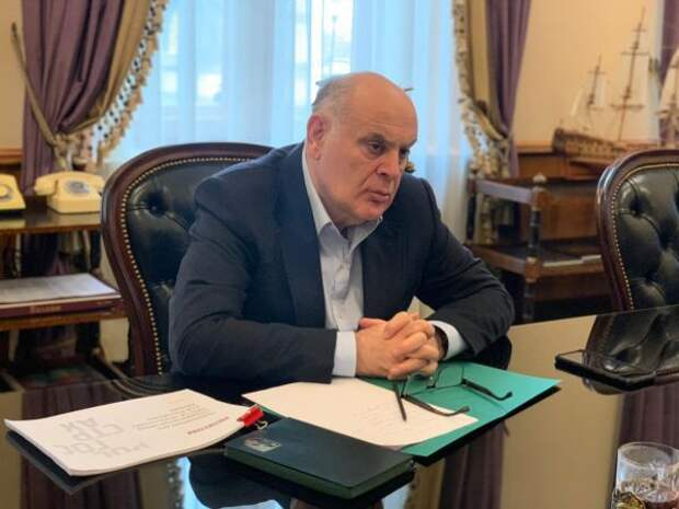 Президент Абхазии встретился вМоскве сруководством Росгосстраха