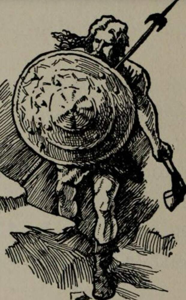 Галльский воин на гравюре 1902 года.