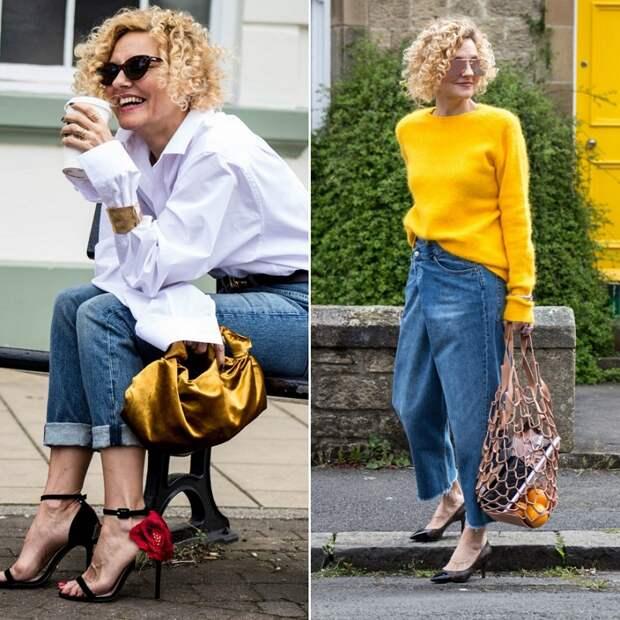 модные джинсы для женщин 50 лет