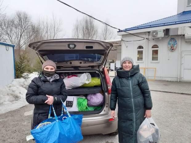 Многодетные семьи из Куркина получили гуманитарную помощь