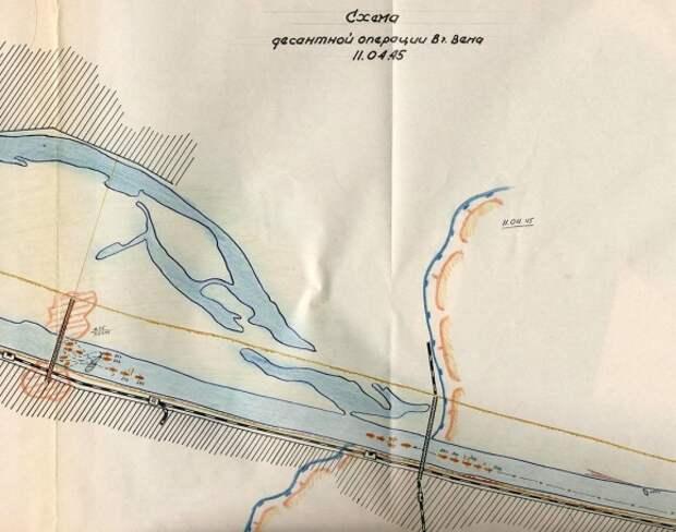 Схема десантной операции по захвату Венского моста