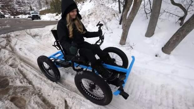 Как выглядит инвалидная коляска-внедорожник, которую мужчина сделал для своей любимой