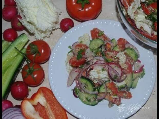 Салат по грузинскому рецепту, просто чудесный пикантный вкус