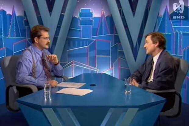 Влад Листьев (слева) и Андрей Врублевский в программе «Час пик»