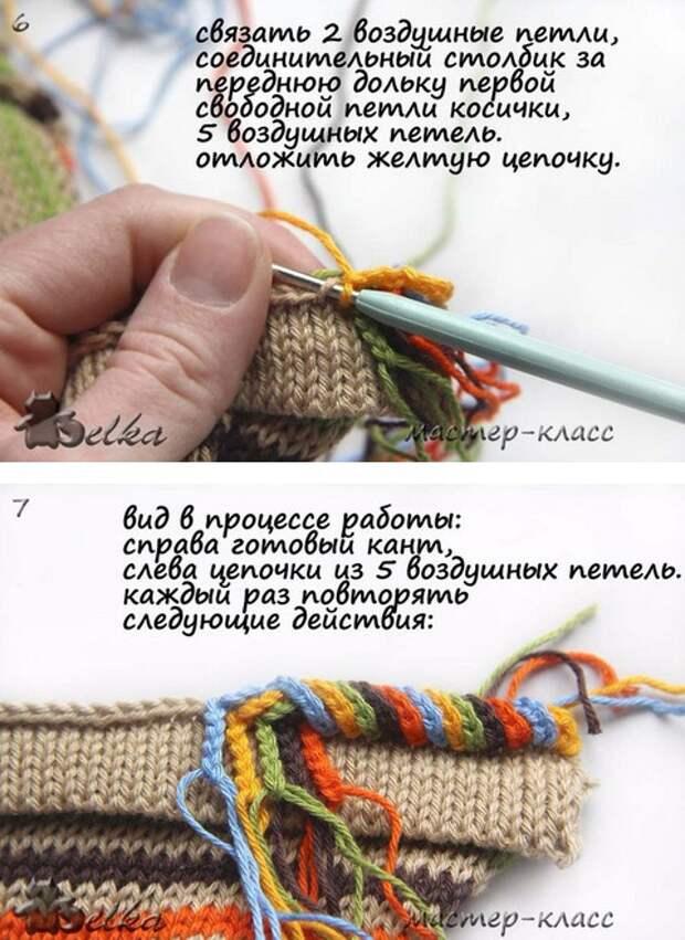 вязание головина украшение