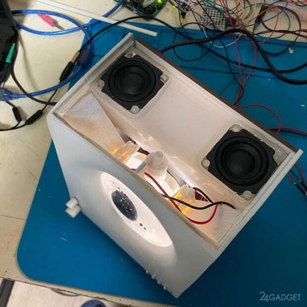Bluetooth колонка с ферромагнитной жидкостью для визуализации музыки