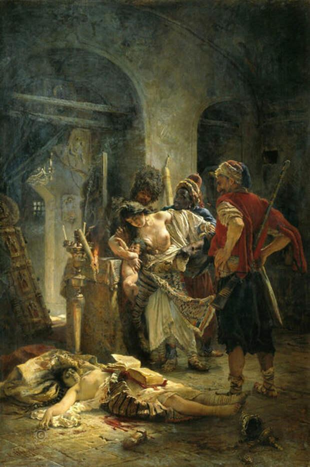 Константин Маковский. Болгарские мученицы. 1877 год © Wikimedia Commons