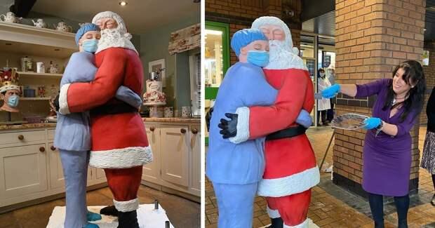 Британка отблагодарила медиков рождественским тортом