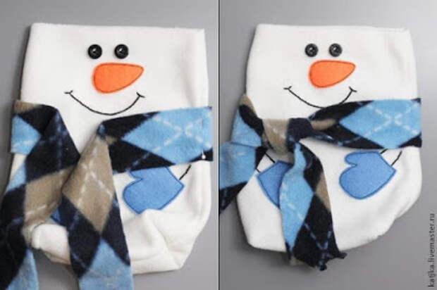 Снеговик - упаковка для подарка. Мастер класс.