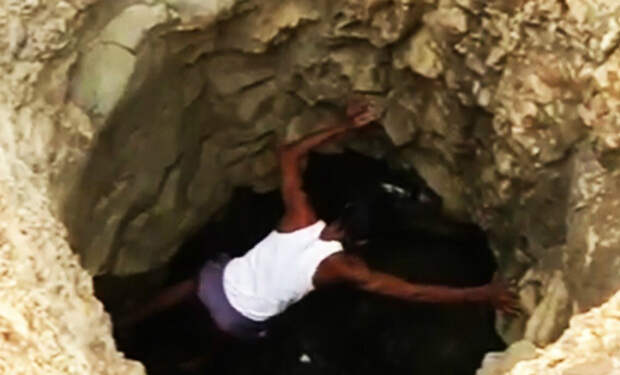 40 дней мужчина копал яму и вызывал лишь насмешки соседей. Смех прекратился, когда на дне показалась вода